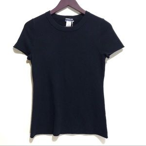 NWT J. Crew 100% Cashmere Navy T-Shirt Sweater